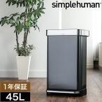 シンプルヒューマン ゴミ箱 ステンレス 45l ごみ箱 おしゃれ フタ付き ふた付き 大容量 [ simplehuman レクタンギュラーステップカン 45L ]