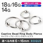 ボディピアス 18G 16G 14G キャプティブビーズリング 定番 シンプル(1個売り)(オマケ革命)