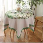 春爛漫 グリーン葉っぱ テーブルクロス四角形  90cm  新入荷