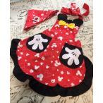 子供、キッズ用キャラクターエプロン三角巾付き セット /Mickey ペアルック