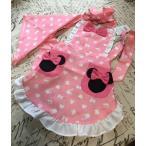 子供、キッズ用キャラクターエプロン三角巾付き セット /Minnie、ミニー