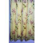 カーテン小窓 花柄 巾60cm×110cm2つ山ヒダ