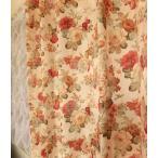オーダーカーテン バラ モアローズ 巾101〜200cm×丈50〜100cm 北欧 洋風 おしゃれ かわいい エレガンス 手作り フェミニン