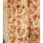 オーダーカーテン バラ モアローズ 巾 50〜100cm×丈101〜160cm 北欧 洋風 おしゃれ かわいい エレガンス 手作り フェミニン