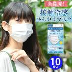 接触冷感ひんやりマスク 10枚入 使い捨て 不織布 BFE99.9 クロスプラス社製【3点までメール便可】