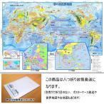 「学べる世界地図」(★八つ折り封筒発送★) 小学校、中学校の学習に合わせた、学習用世界地図 書いて消せるポスター 5歳〜中学受験