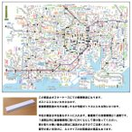 「都市部路線図ミニ 1」 東京 B3ミニサイズ   【関東の全駅、全路線掲載】 旅行ビジネスに/ TSR-1-mini