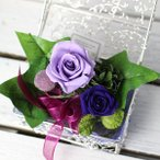 「誕生石の贈り物」2月生まれに贈る!誕生石アメジスト色の贈り物 バースディローズ(プリザーブドフラワー)