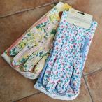 お花のガーデングローブ ロング丈 Mサイズ (ガーデニング手袋)UVカット 綿100% /(クロネコDM便対応)