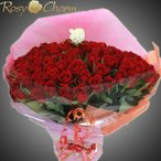 プロポーズ 赤いバラ 花束 100本 【メッセージローズ・ブーケ】 薔薇 メッセージ入り 花束ギフト