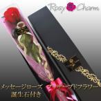 メッセージローズ プリザーブドフラワー 赤いバラ