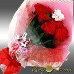 プリザーブドフラワーのバラの花束(赤いバラの花束)15本のバラの花束