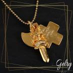 22kgp 3トリンケッツ ペンダント K22 22K 22金 ゴールド ゴールドGP メッキ メンズ 男性 ネックレス アクセサリー CHROME HEARTS クロムハーツ