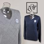 ゾーイ レディース/Vネックセーター(M)(L) ゴルフウェア ZOY 48705