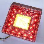 JB角型LEDテールランプ単体 クリアレンズ LED赤/橙(ウインカー用)【代引不可】