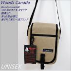 送料無料 Woods Canada ウッズカナダ 約47%off ミニショルダーバッグ ベージュ ミニショルダーバッグ セカンドバッグ ウッズカナダ 布バッグ ミニバッグ UNISEX