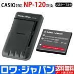 USB マルチ充電器 と CASIO カシオ の NP-120 互換 バッテリー【ロワジャパンPSEマーク付】