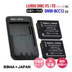 USB マルチ充電器 と パナソニック DMW-BCC12 【2個セット】 互換 バッテリー【実容量高】 【ロワジャパンPSEマーク付】