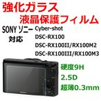 【極薄0.3mm/硬度9H/2.5Dラウンドエッジ加工】ソニー SONY Cyber-shot DSC-RX100 M2 M3 用 液晶保護 強化ガラス フィルム 防爆 防指紋(カッターでも傷つかない)