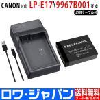 【実容量高】CANON キャノン LP-E17 互換バッテリー1個 + LC-E17 互換USB充電器セット【ロワジャパンPSEマーク付】