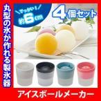 製氷器 アイスボールメーカー 選べる4色 4個セット