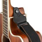 ショッピングストラップ ギター ストラップ ウクレレストラップ - BestSounds ピックのポケット付属耐久性のある調整可能な100%綿 GSC-03 (ブラ