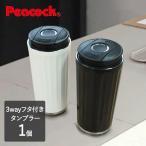 送料無料 タンブラー 蓋付き おしゃれ 保温 保冷 かわいい コーヒー ボトル 水筒 真空二重構造 ストロー ドリンクホルダー ステンレス3wayタンブラー (2色)