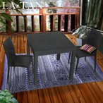 ガーデンテーブル 80×80cm・チェア2脚セット LA・TAN | ベランダ ガーデン テーブル セット 屋外 テーブルセット 雨ざらし ガーデンテーブルセット