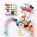 Mamimami Home 歯固め おしゃぶり 17MM シリコーン製 八角ビーズ 50個 出産祝い 歯がため 赤ちゃん おもちゃ ガラガラ