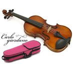 カルロジョルダーノ VS-1C ぴんく 4/4〜1/16サイズ 分数バイオリンセット