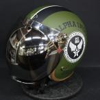 バブルミラーシールド付 Alpha industries STEALTH JET ヘルメット ALVH-1621 ブラック/カーキ