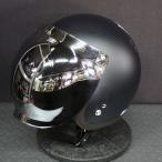 バブルミラーシールド付 ライズ KNUCKLE HEAD RJ605 NoGuts NoGlory ジェットヘルメット ブラック/ゴールド フリーサイズ