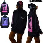 パーカー ジャージ 薄手 ドライ(黒 ピンク 紫) ブランド バックプリント メンズ レディース フード 速乾 ジョギング 上着 UVカット(ラウンドスノーボードギア)