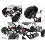 最新前後ディスクブレーキ50ccMINI 四輪バギー最高速度 45km/h白色トリプルサス仕様(格安消耗部品)