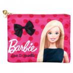 ★ Barbie バービー フラットポーチ サテン フューシャピンク 31244