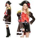 海賊 コスプレ フリルジャケット パイレーツ ハロウィン 4点セット 衣装 コスチューム レディース 送料無料 hw000122