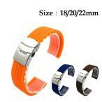 時計バンド 腕時計 交換ベルトストラップ シリコーン ナイロン シリコン 防水 R1085-JH