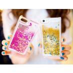 iphone5/5sケース カバー 流れ星 スノードーム ラメ おしゃれ かわいい キラキラ
