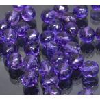 【天然石】【1玉】カット入りアメジスト(2mm玉)「パーツ/手芸/手作り」