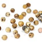 【天然石】【1玉】カット入りピクチャージャスパー(4mm玉)パワーストーン「パーツ/バラ売り/1粒売り/風水」
