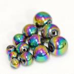 【天然石】【1玉】【3A】レインボーヘマタイト(6mm玉)パワーストーン「パーツ/バラ売り/1粒売り/風水」