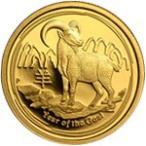 【新品未使用】【金貨】オーストラリア 干支金貨 羊 1/4オンス硬貨 1/4oz(2015年)「コイン」