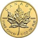 【新品未使用】【金貨】カナダ メイプルリーフ金貨 1オンス硬貨 1oz(1979年〜)「コイン」