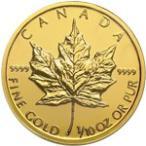 【新品未使用】【金貨】カナダ メイプルリーフ金貨 1/10オンス硬貨 1/10oz(1979年〜)「コイン」