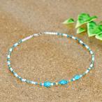 天然石 ネックレス ターコイズ&ピクチャージャスパー&マザーオブパールを使用した数珠ネックレス|パワーストーン アクセサリー レディース メンズ