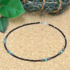 天然石 ネックレス オニキス&ヘマタイト&ターコイズを使用した数珠ネックレス|パワーストーン アクセサリー レディース メンズ