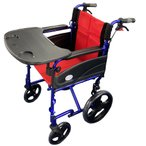 Nice Way2(ナイスウェイ) 折りたたみ式 車椅子(テーブル付き)【座面幅約46cm】【簡易式】【軽量】【介護・介助用】【介助ブレーキ付き】