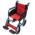 Nice Way2(ナイスウェイ) 折りたたみ式 車椅子(クッション付き)【座面幅約46cm】【簡易式】【軽量】【介護・介助用】【介助ブレーキ付き】