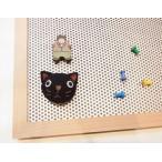 マグネットボード:パンチングメタルボード Lサイズ(プッシュピン対応のパンチングメタル版付き):ラ・ルース社の木製品 コルクボード