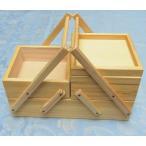 ソーイングボックス(ヴィンテージデザイン)ラ・ルース【La Luz】木製品:小物入れ・救急箱・手芸・クラフト・日本製